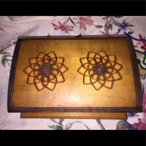 Accents - Vintage Footed Burn Carved Box